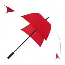 Falcone® golfparaplu, automaat, windproof-rood/wit