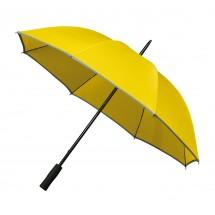 Falcone® golfparaplu met reflecterende piping-geel