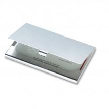 Aluminium visitekaarthouder EPSOM - zilver glans