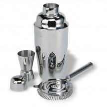 Chroomkleurige cocktailset FIZZ - zilver glans