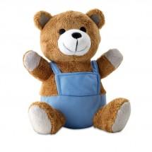 Pluchen teddybeer NICO - blauw
