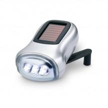 LED zaklamp groene energie DYNASOL - mat zilver