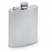 Heupfles 200 ml SLIMMY FLASK - mat zilver