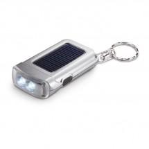 Sleutelhanger met zaklamp RINGAL - mat zilver