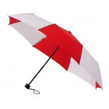 opvouwbare paraplu, voeg uw eigen doming toe!!-rood/wit