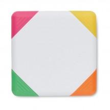 Markeerstif 4 kleuren SQUARIE - wit