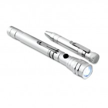 Aluminium multitool STRECH-TORCH SET - silver