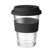 Glazen drinkbeker 350 ml ASTOGLASS - zwart