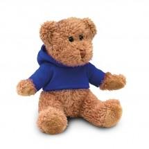 Teddybeer met sweatshirt JOHNNY - blauw