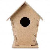 Vogelhuisje van MDF WOOHOUSE - houtkleur