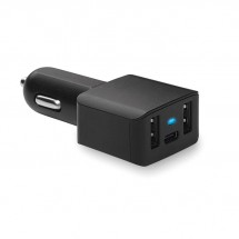 USB auto-oplader, type C CHARGEC - black