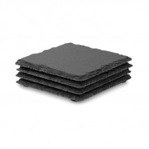 Leistenen onderzetters SLATE4 - black