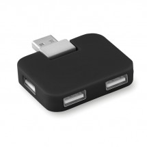 USB Hub, 4 poorten SQUARE - zwart