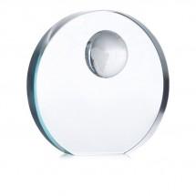 Glazen trofee met wereldbol MONDAL - transparant