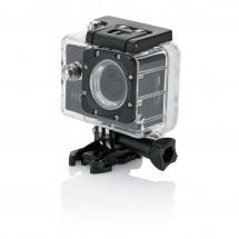 Action camera inclusief 11 accessoires, zwart/zwart