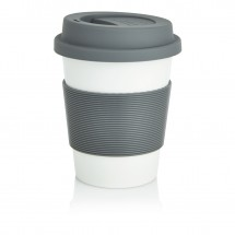 PLA Coffee cup, wit/grijs