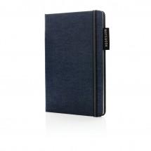 Deluxe A5 denim notitieboek - donkerblauw