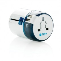 Travel Blue world travel adapter USB , wit