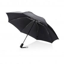 "Swiss Peak 23"" opvouwbare reversible auto open/sluit paraplu - zwart"