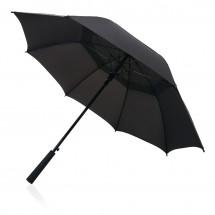 """Tornado 23"""" storm paraplu - zwart"""