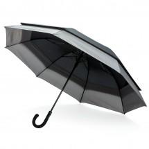 """Swiss Peak 23"""" tot 27"""" uitschuifbare paraplu - zwart/grijs"""