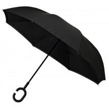 Inside Out paraplu, dubbeldoeks, windproof-zwart