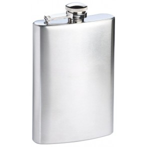 Hip flask 8oz, stainless steel