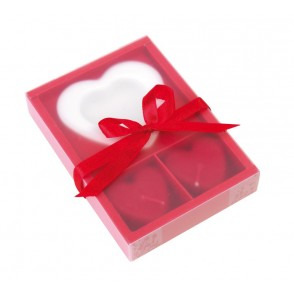 "Candle set ""2 Hearts"""