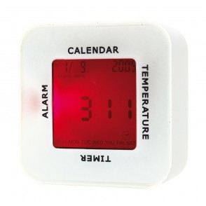 "Table alarm clock ""4 in 1"" white"
