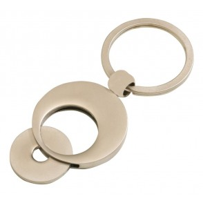 Keyring Coin holder w/ coin, dull finish