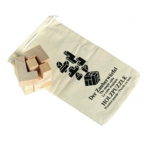 "Wooden puzzle ""Crazy cube"" in cotton bag"