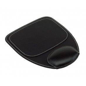 Mouse pad w/ hand rest, black