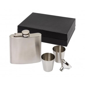 "Hip flask set, 4 pcs. ""Cowboy"""