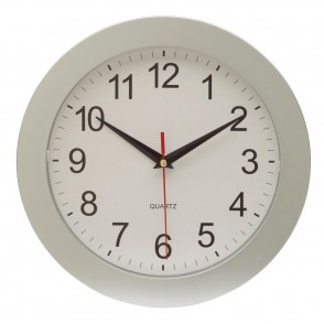 "wall clock ""Easy Time"" , silver"