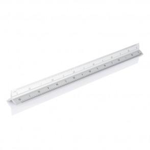 Aluminium driehoeks liniaal, zilver