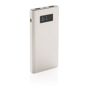 10.000 mAh powerbank met quick charge output , zilver