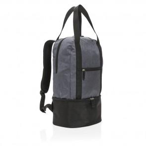 3-in-1 koel rugzak en handtas, grijs