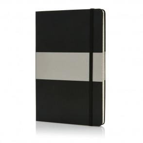 A5 rechthoekig hardcover notitieboek, zwart