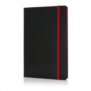 A5 notitieboek met gekleurde zijde