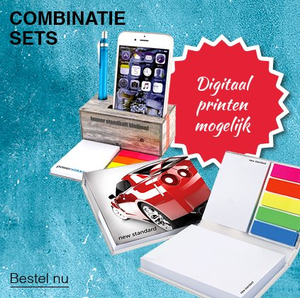 Memoblokken combinatie-sets