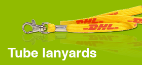 Tube-Lanyards met logo