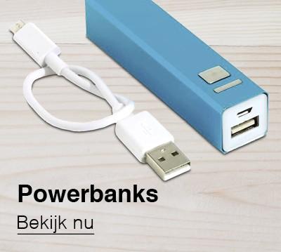Bedrukte Powerbanks als relatiegeschenk